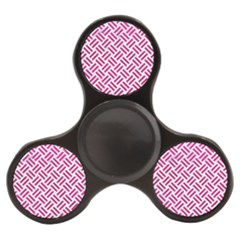 Woven2 White Marble & Pink Leather (r) Finger Spinner by trendistuff