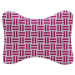 Woven1 White Marble & Pink Leather (r) Velour Seat Head Rest Cushion by trendistuff
