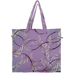 Floral Retro Pattern Blue Canvas Travel Bag by goodart