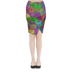 Colorful Patern Art Rainbow Midi Wrap Pencil Skirt