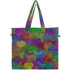 Colorful Patern Art Rainbow Canvas Travel Bag by goodart