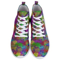 Colorful Patern Art Rainbow Men s Lightweight High Top Sneakers by goodart