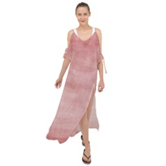 Red Color Patern Art Maxi Chiffon Cover Up Dress by goodart