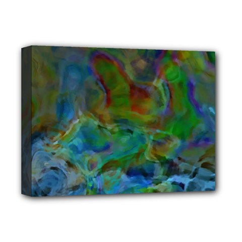 Rainbow Patern Color Deluxe Canvas 16  X 12   by goodart