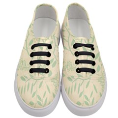 Leaves Vintage Pattern Women s Classic Low Top Sneakers