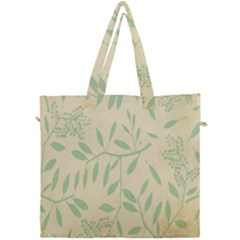Leaves Vintage Pattern Canvas Travel Bag by goodart