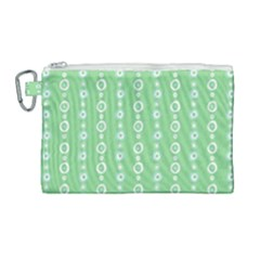 Retro Green Pattern Canvas Cosmetic Bag (large) by goodart