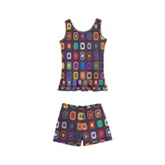 Retro Pattern Kid s Boyleg Swimsuit by goodart