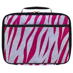 Skin3 White Marble & Pink Leather (r) Full Print Lunch Bag by trendistuff