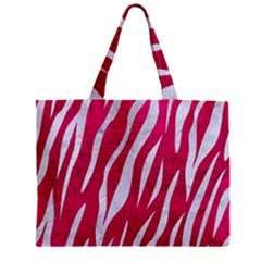 Skin3 White Marble & Pink Leather Zipper Mini Tote Bag by trendistuff