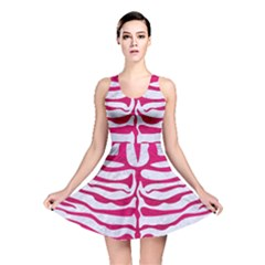 Skin2 White Marble & Pink Leather (r) Reversible Skater Dress