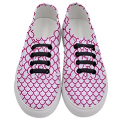 Scales1 White Marble & Pink Leather (r) Women s Classic Low Top Sneakers