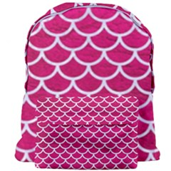 Scales1 White Marble & Pink Leather Giant Full Print Backpack by trendistuff