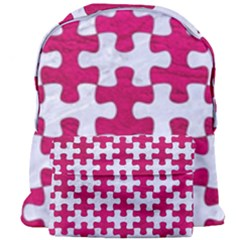 Puzzle1 White Marble & Pink Leather Giant Full Print Backpack by trendistuff