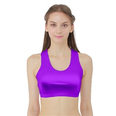 Light Purple Dots Pattern Sports Bra With Border by LoolyElzayat