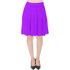 Light Purple Dots Pattern Velvet High Waist Skirt