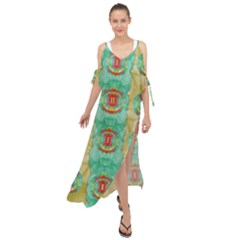 Peace Will Be In Fantasy Flowers With Love Maxi Chiffon Cover Up Dress