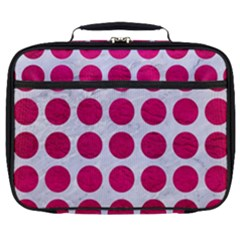 Circles1 White Marble & Pink Leather (r) Full Print Lunch Bag by trendistuff
