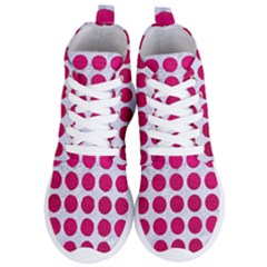 Circles1 White Marble & Pink Leather (r) Women s Lightweight High Top Sneakers