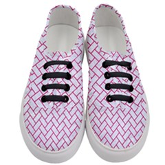 Brick2 White Marble & Pink Leather (r) Women s Classic Low Top Sneakers