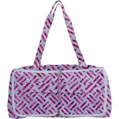 Woven2 White Marble & Pink Marble (r) Multi Function Bag