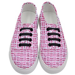 Woven1 White Marble & Pink Marble (r) Women s Classic Low Top Sneakers