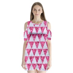 Triangle3 White Marble & Pink Marble Shoulder Cutout Velvet One Piece by trendistuff