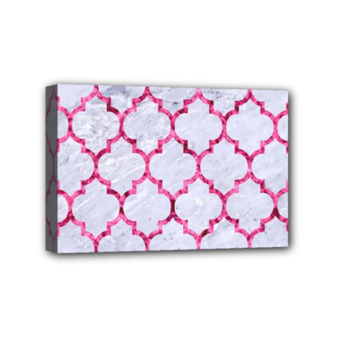 Tile1 White Marble & Pink Marble (r) Mini Canvas 6  X 4
