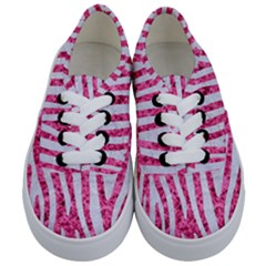 Skin4 White Marble & Pink Marble (r) Kids  Classic Low Top Sneakers