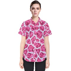 Skin1 White Marble & Pink Marble (r) Women s Short Sleeve Shirt
