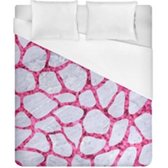 Skin1 White Marble & Pink Marble Duvet Cover (california King Size) by trendistuff