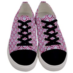 Scales2 White Marble & Pink Marble (r) Men s Low Top Canvas Sneakers