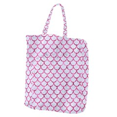 Scales1 White Marble & Pink Marble (r) Giant Grocery Zipper Tote by trendistuff