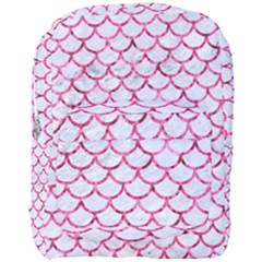 Scales1 White Marble & Pink Marble (r) Full Print Backpack by trendistuff