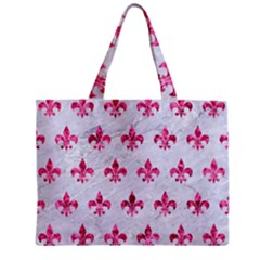 Royal1 White Marble & Pink Marble Zipper Mini Tote Bag by trendistuff