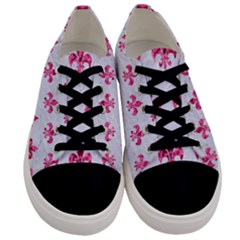 Royal1 White Marble & Pink Marble Men s Low Top Canvas Sneakers