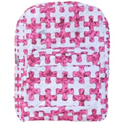 Puzzle1 White Marble & Pink Marble Full Print Backpack by trendistuff