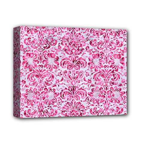 Damask2 White Marble & Pink Marble (r) Deluxe Canvas 14  X 11  by trendistuff