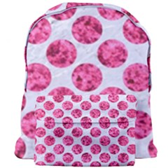 Circles2 White Marble & Pink Marble (r) Giant Full Print Backpack by trendistuff