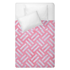 Woven2 White Marble & Pink Watercolor Duvet Cover Double Side (single Size) by trendistuff