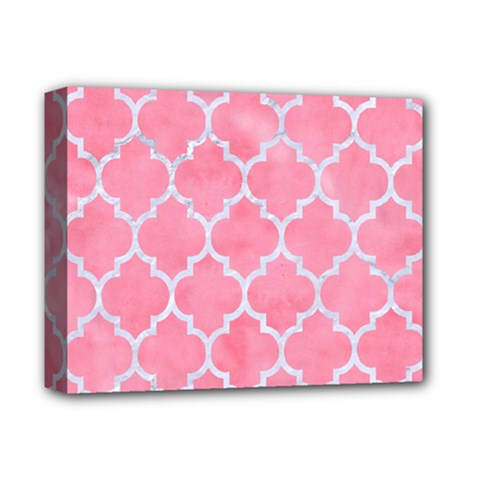 Tile1 White Marble & Pink Watercolor Deluxe Canvas 14  X 11  by trendistuff