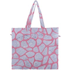 Skin1 White Marble & Pink Watercolor Canvas Travel Bag by trendistuff