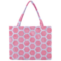 HEXAGON2 WHITE MARBLE & PINK WATERCOLOR Mini Tote Bag