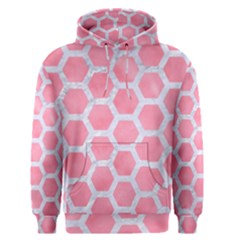 HEXAGON2 WHITE MARBLE & PINK WATERCOLOR Men s Pullover Hoodie