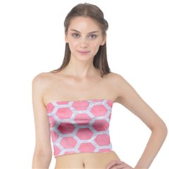HEXAGON2 WHITE MARBLE & PINK WATERCOLOR Tube Top
