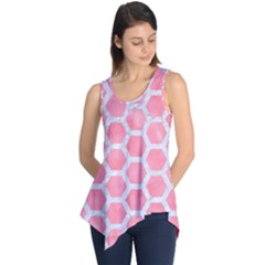 HEXAGON2 WHITE MARBLE & PINK WATERCOLOR Sleeveless Tunic