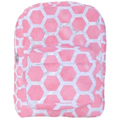 HEXAGON2 WHITE MARBLE & PINK WATERCOLOR Full Print Backpack