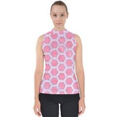 HEXAGON2 WHITE MARBLE & PINK WATERCOLOR Shell Top
