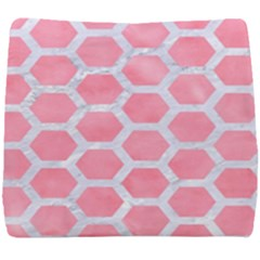 HEXAGON2 WHITE MARBLE & PINK WATERCOLOR Seat Cushion