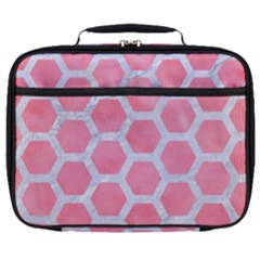 HEXAGON2 WHITE MARBLE & PINK WATERCOLOR Full Print Lunch Bag